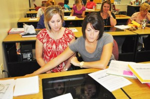 Melanie Alleman and Aunie Bernard participated in the three day Promethean Camp at the Technology Center.